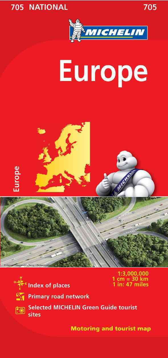 Michelin Map 705 Europe By Michelin Travel & Lifestyle (COR)